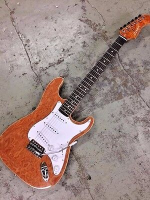 NEW 6 STRING BURL MAPLE STRAT STYLE 6 STRING ELECTRIC GUITAR