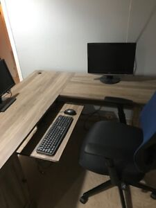 """L"" shaped office desk for sale"