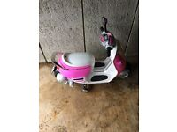 Pink Mini battery powered scooter 6V