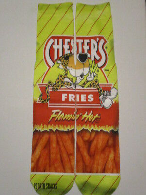 CHESTER HOT FRIES SOCKS BUY any 3 pairs GET 4TH PAIR FREE novelty like odd sox