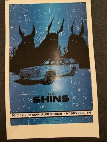 Shins ARTIST PROOF HATCH SHOW PRINT POSTER 10/7/2012 Ryman Auditorium Nashville