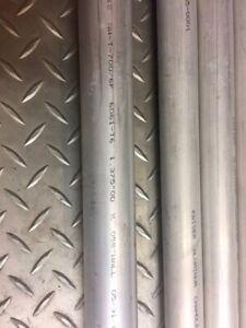 Tube, tubing, pipe, Aluminium type aviation: