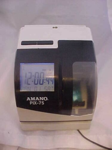 AMANO PIX-75 TIME CLOCK office recorder
