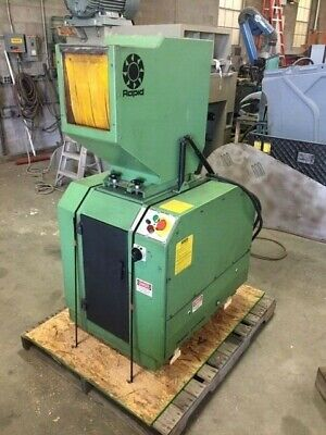 Rapid 810 Plastic Grinder Granulator 5hp 480v 6 Blade Staggered