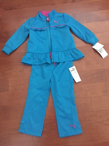 Brand New Puma Girls Track Suit - size 2T (with tag)
