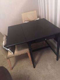 Ikea Ingatorp dining table black brown