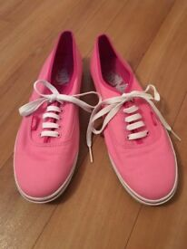 VANS trainers PINK Size 7 1/2