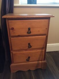 Two lovely 3 drawers bedside tables