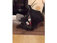 Graco Evant car seat and isofix base