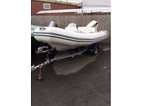 Avon 4.0 RIB with 40hp Johnson 2-Stroke for Sale