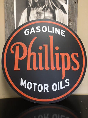 "Phillips 66 Motor Oil Sign 30"" Round"