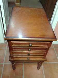 antique cabinet with hide-away TV tables