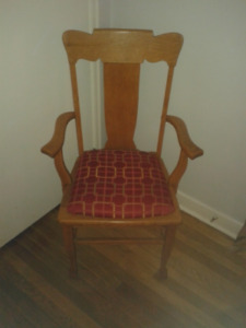Four Antique Oak Chairs