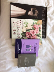 Selection of wedding books to help you plan your big day, collection only