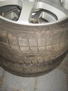2X 215/45/17 MAGS + YOKOHAMA WINTER TIRE EXCELLENT CONDITION