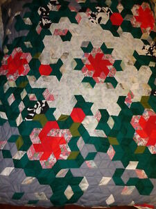 Quilt, Home made, entitled Romanichel