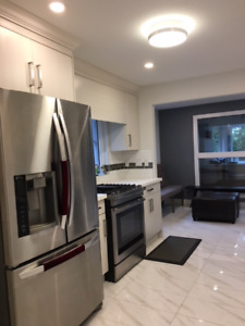 Newly renovated 3 bdrms 1400 sqft walking distance to skytrain
