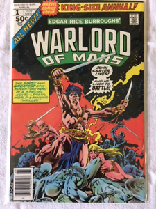 Warlord of Mars King Size Annual comic book #1 - NM - 1977.