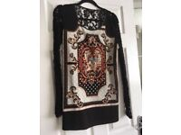 Versace style tunic dress size 12/14 purchased from Gemma Collins shop in Brentwood. Worn few times.
