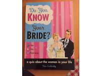 How well do you know your Bride quiz booklet. (Brand new)