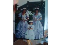 bridesmaid dress size 12 blue , beautiful