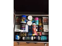 marine tank foods supplements and treatments ect in metal case