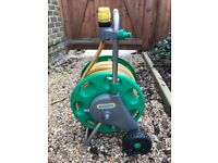 Hozelock 40 metre hose on movable stand with wheels - Collection only