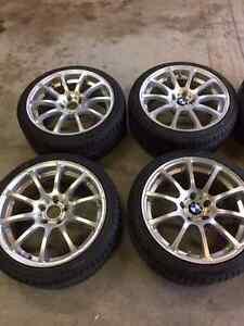 4 BMW Rims with Yokohama winters –  225/40R18