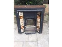 Original Victorian fireplace inserts (x2)