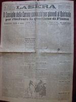 La Sera 22/9/1919 Consiglio Della Corona Convocato Per La Questione Di Fiume - corona - ebay.it