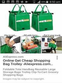 Trolley clip in bags x 2