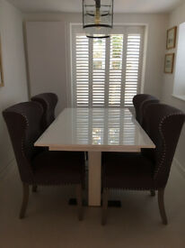 Beautiful Grey Dining Room Chairs (all but unused)