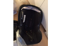 Maxi cosy car seat with pushchair adaptor included