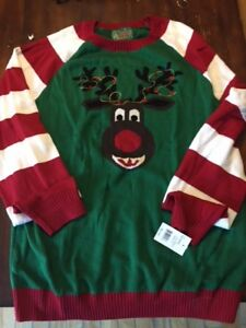 Men's Christmas Sweater 2 XL new with tags