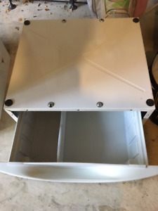 White Washer and Dryer Pedestal