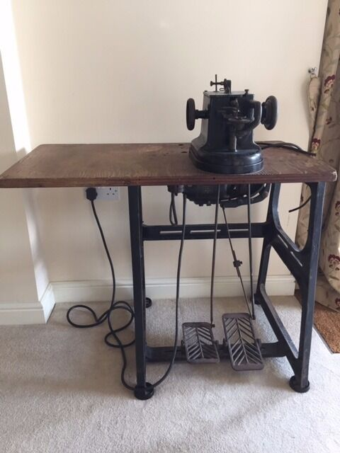 Vintage Allbrook Hashfield Industrial Fur Leather Sewing Machine Mesmerizing Vintage Leather Sewing Machine
