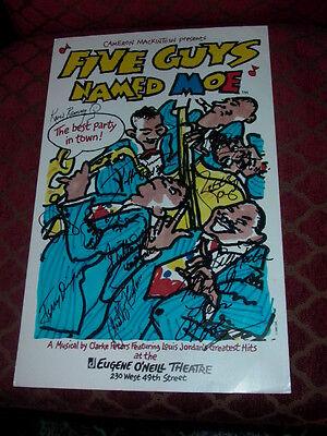 Five Guys Named Moe Original Autographed Broadway Window Card