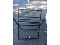 2 Black wrought iron foldaway print browsers for sale. Good condition