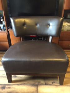 Espresso Armless Accent Chair