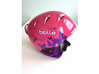 BRAND NEW IN BOX - GIRLS SKI/SNOWBAORD HELMET - Helmet B-Kid Shiny Pink Butterfly Bolle