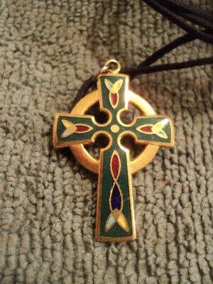 Rustic Iron Cross to Enhance a Neclace  2 12 x 1 12