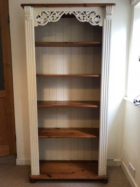 Bookcase Bookshelf Large Solid Pine Shabby Chic