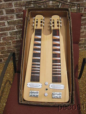 GREAT SOUNDING NEW CUSTOM MADE DOUBLE LAP STEEL GUITAR Natural Finish LSG on Rummage