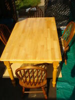 Dining Table Solid Oak W/ Four Chairs
