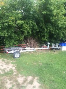 18-foot aluminum Triton (BLAZE) boat trailer for sale.