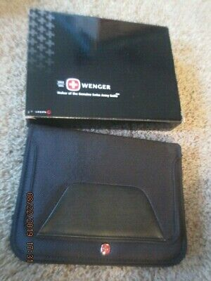 Nib Wenger Swiss Army Business Portfolio Organizer Writing Pad Binder Leeds 9x7