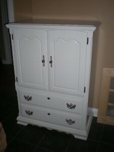 Beautiful White Dresser Armoire Tons Of Room Two Drawers 2 Doors