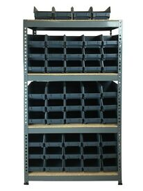 48 bins with shelving unit (delivery included)