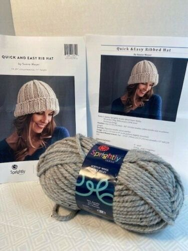 Knitting kit - Quick & Easy Ribbed Hat by Sunne Meyer Craftsy Yarn and Pattern