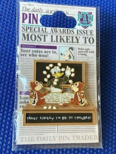 Disney Pin Trading University Celebration Most Likely to Be in Trouble Chip Dale